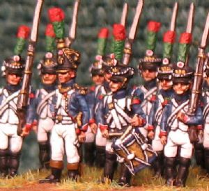 15mm, Napoleonic French Fusilier Chasseurs (1810+) AB 24 fig